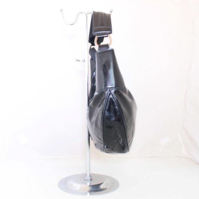 GUCCI Black Patent Leather Shoulder Bag 23198 d