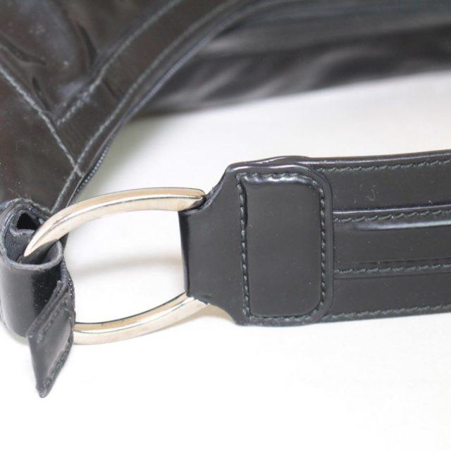 GUCCI Black Patent Leather Shoulder Bag 23198 f