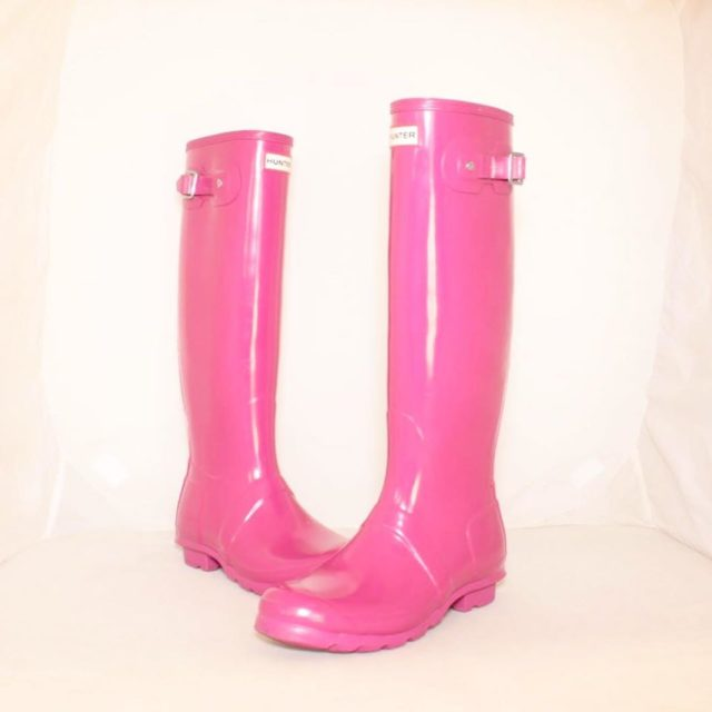 HUNTER Hot Pink Rainboots 8 US 38 EU 25225 a