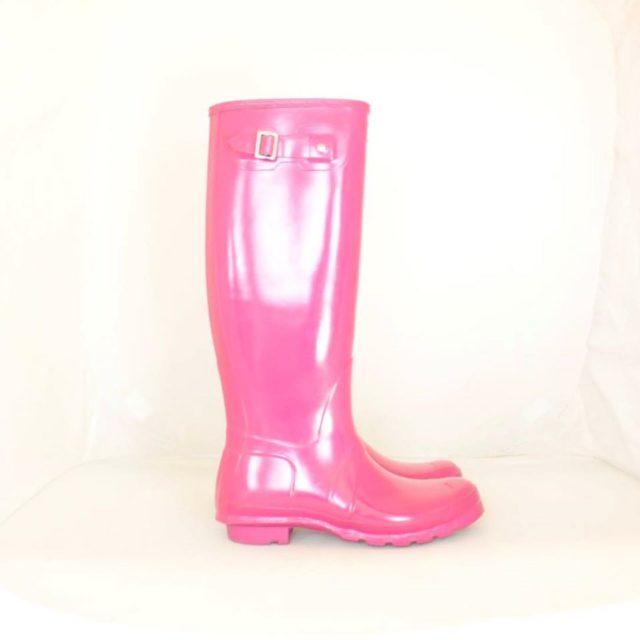 HUNTER Hot Pink Rainboots 8 US 38 EU 25225 c