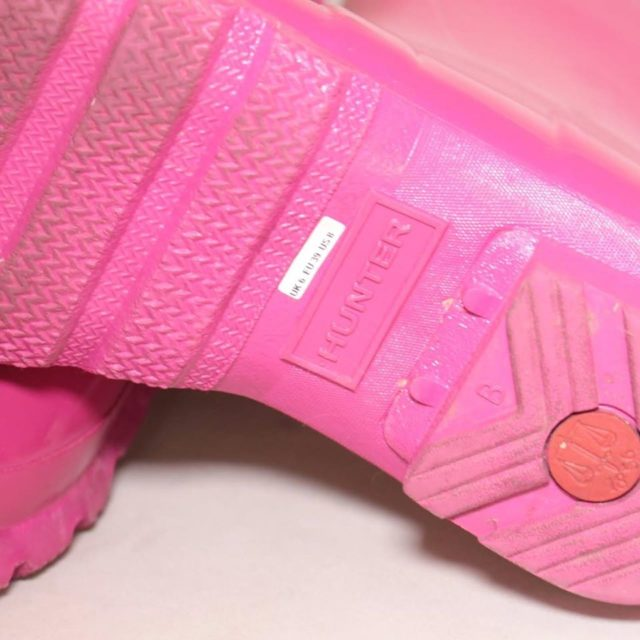 HUNTER Hot Pink Rainboots 8 US 38 EU 25225 f