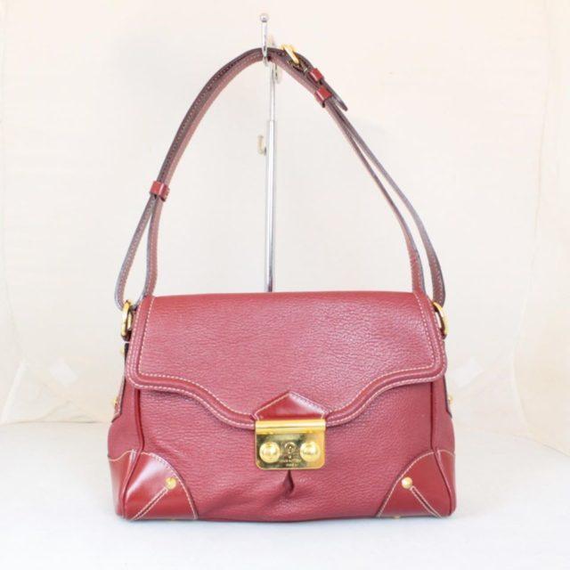 LOUIS VUITTON Red Le Talenteux Suhali Leather Shoulder Bag 23347 a