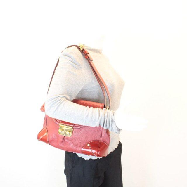 LOUIS VUITTON Red Le Talenteux Suhali Leather Shoulder Bag 23347 j