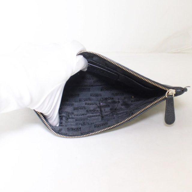 MICHAEL KORS Black Leather Clutch 25227 b