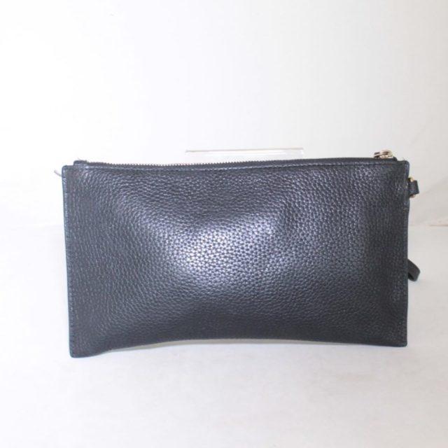 MICHAEL KORS Black Leather Clutch 25227 c
