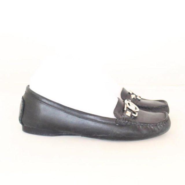 MICHAEL KORS Black Leather Loafers US 7.5 EU 37.5 25245 c