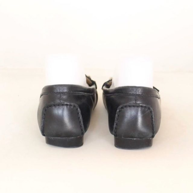 MICHAEL KORS Black Leather Loafers US 7.5 EU 37.5 25245 d
