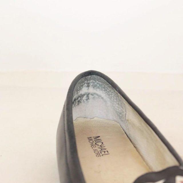 MICHAEL KORS Black Leather Loafers US 7.5 EU 37.5 25245 e