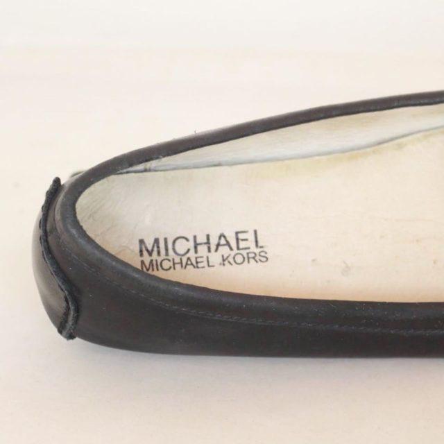 MICHAEL KORS Black Leather Loafers US 7.5 EU 37.5 25245 f