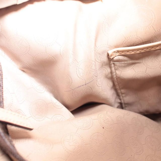 MICHAEL KORS Brown Leather Canvas Tote 25242 g
