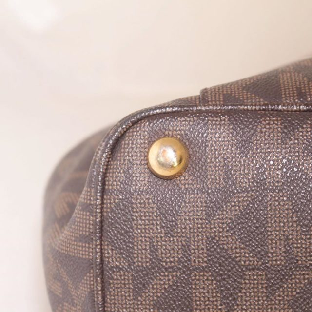 MICHAEL KORS Brown Leather Canvas Tote 25242 i