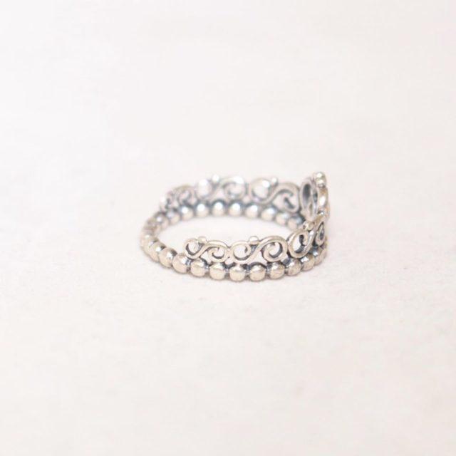 PANDORA Tiara Crown Ring Sterling Silver Ring Size 7 23307 b