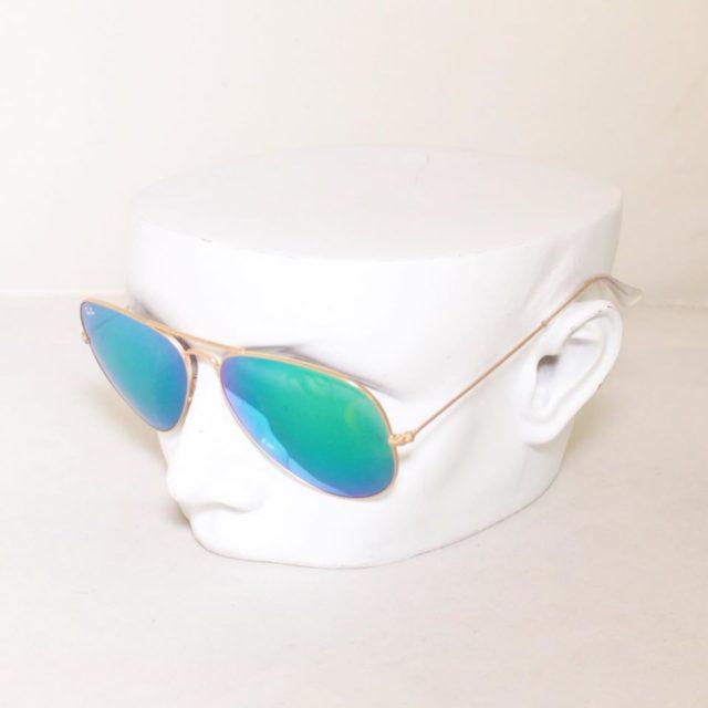 RAY BAN Green Aviator Sunglasses 24872 a