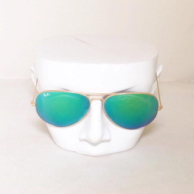 RAY BAN Green Aviator Sunglasses 24872 b
