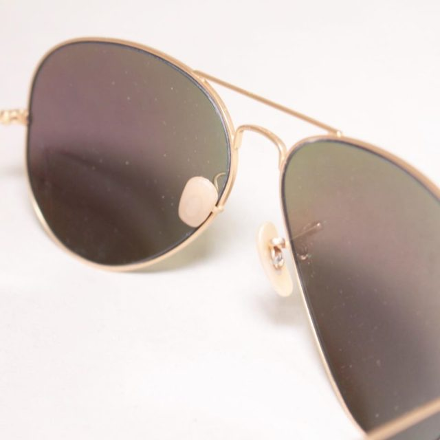 RAY BAN Green Aviator Sunglasses 24872 e