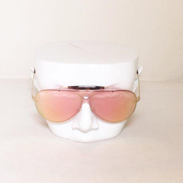 RAYBAN Red Aviator Sunglasses 24873 b
