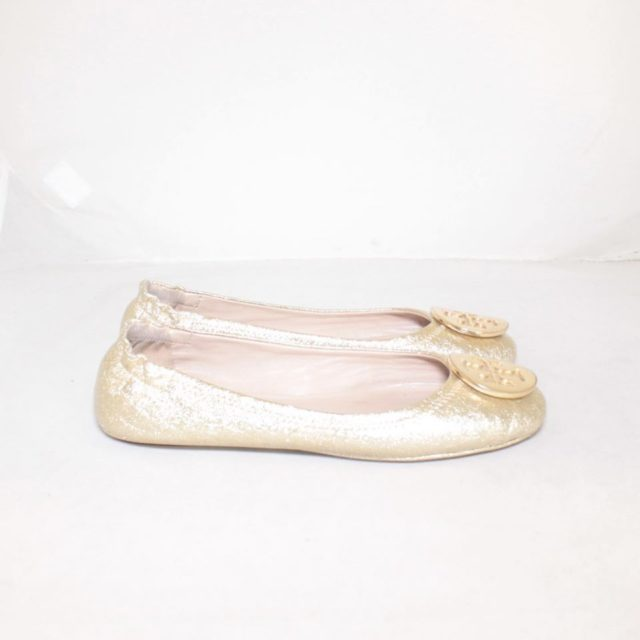TORY BURCH Metallic Gold Ballerina Flats 6.5 US 36.5 EU 24876 b