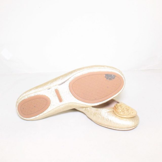 TORY BURCH Metallic Gold Ballerina Flats 6.5 US 36.5 EU 24876 c