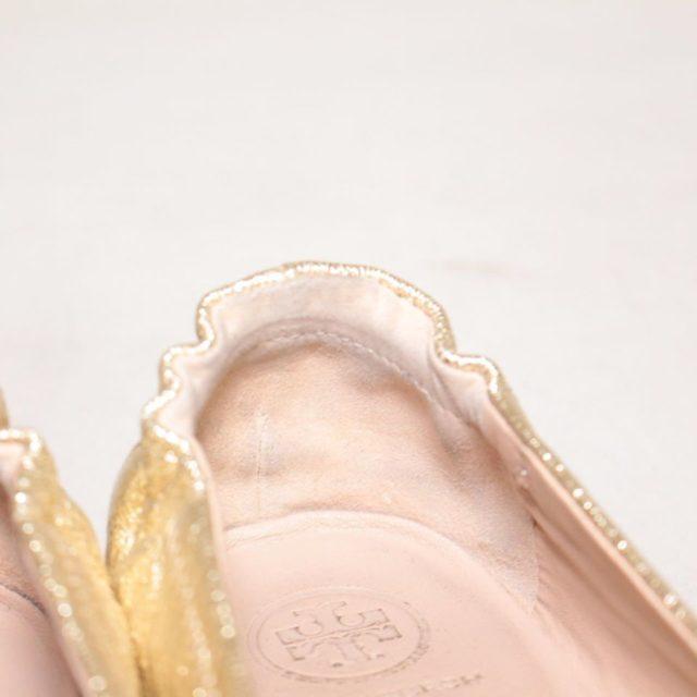 TORY BURCH Metallic Gold Ballerina Flats 6.5 US 36.5 EU 24876 e