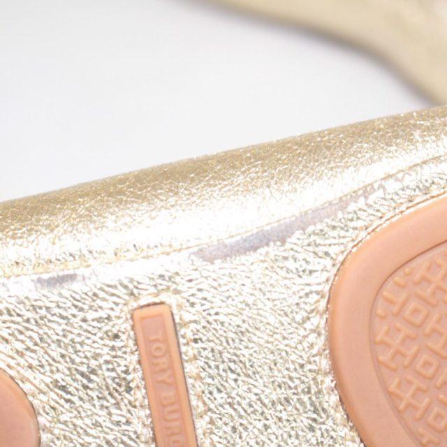 TORY BURCH Metallic Gold Ballerina Flats 6.5 US 36.5 EU 24876 f