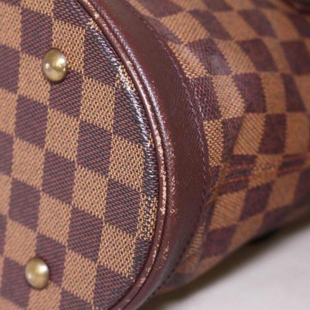 LOUIS VUITTON Damier Ebene Bucket Handbag 25401 h