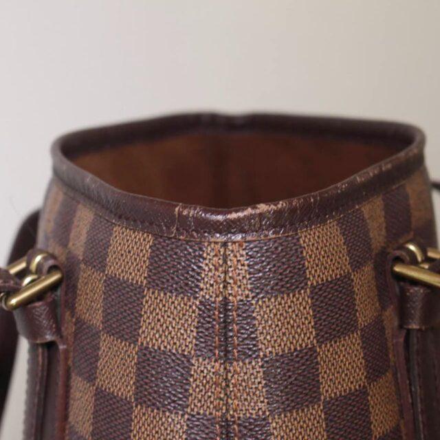 LOUIS VUITTON Damier Ebene Bucket Handbag 25401 i