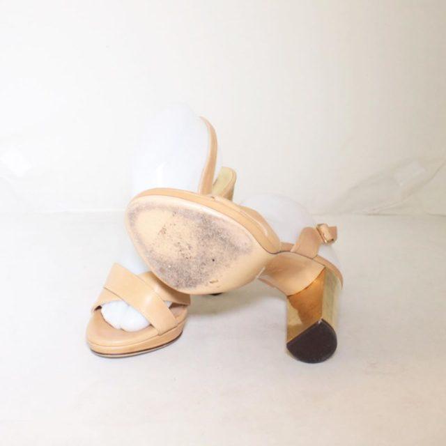 SALVATORE FERRAGAMO Nude Slingback Heels US 7 EU 37 25255 c