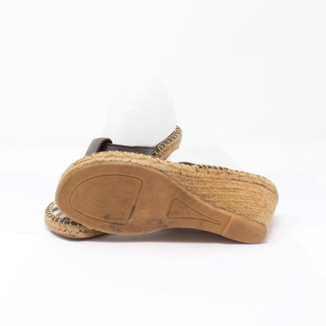 BURBERRY Brown Canvas Sandal Wedges US 10 EU 40 25635 b
