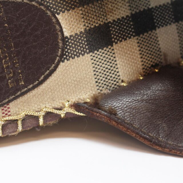 BURBERRY Brown Canvas Sandal Wedges US 10 EU 40 25635 e