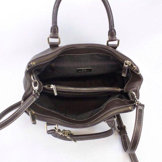 CAROLINA HERRERA 19111 Matteo Brown Leather Tote c