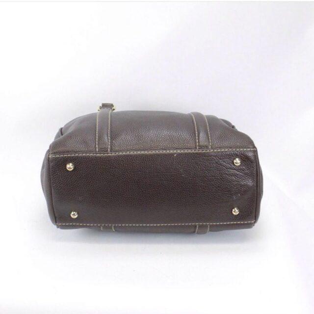 CAROLINA HERRERA 19111 Matteo Brown Leather Tote d