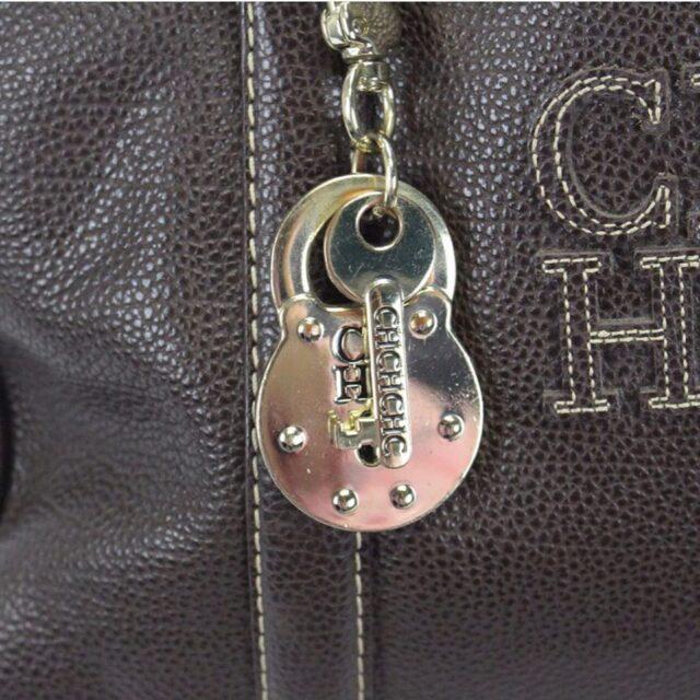 CAROLINA HERRERA 19111 Matteo Brown Leather Tote g