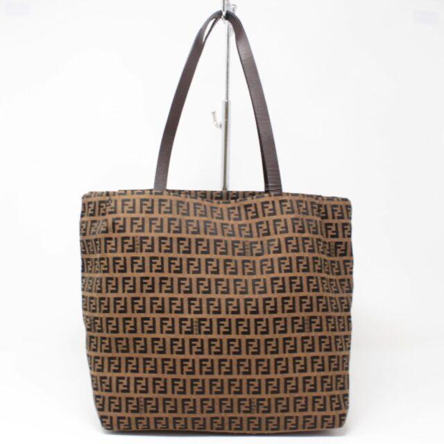 FENDI Brown Canvas Large Handbag 25889 a