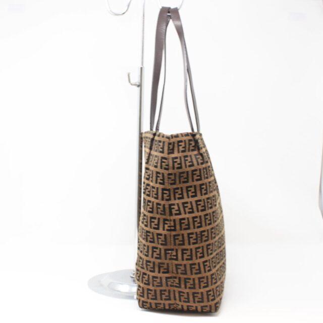 FENDI Brown Canvas Large Handbag 25889 b
