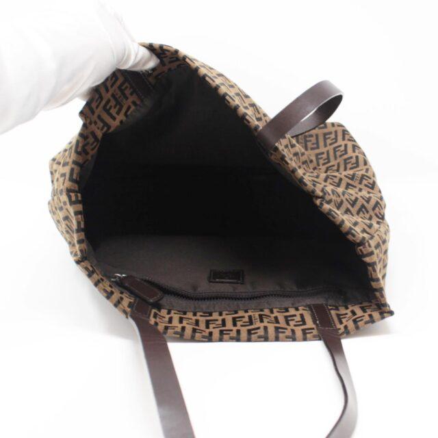 FENDI Brown Canvas Large Handbag 25889 c