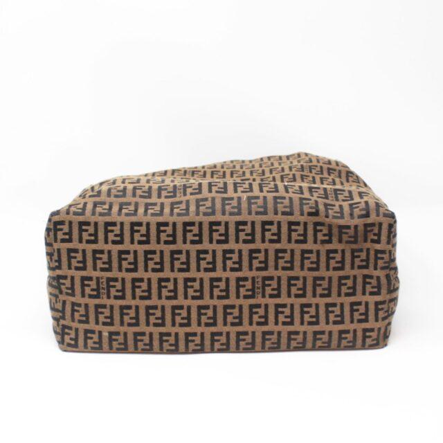 FENDI Brown Canvas Large Handbag 25889 e