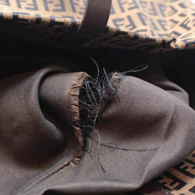 FENDI Brown Canvas Large Handbag 25889 h