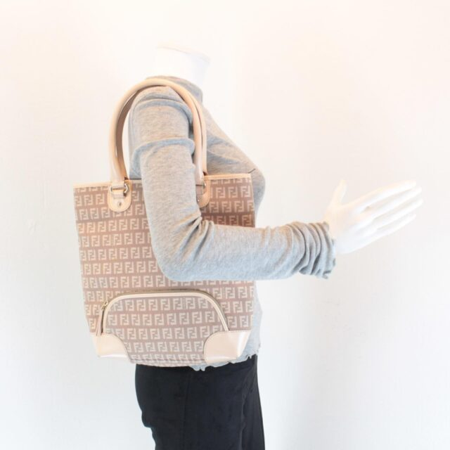 FENDI Pink Canvas Handbag 25886 h