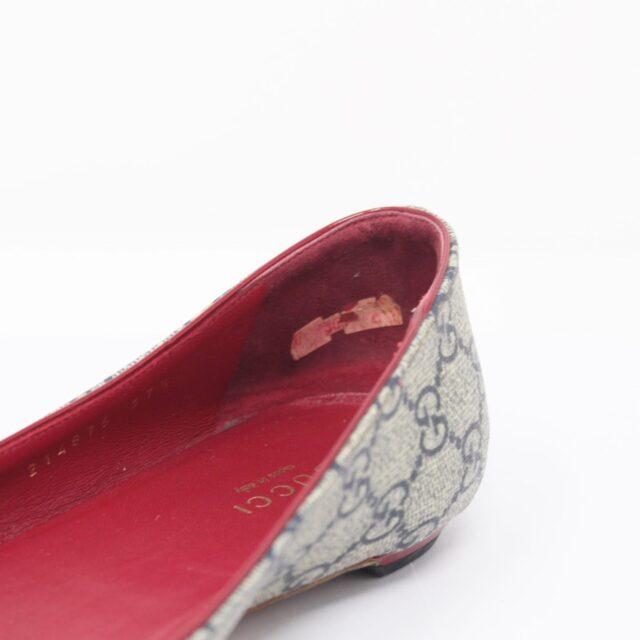 GUCCI Guccissima Grey Red Ballerina Flats US 8.5 EU 38.5 25634 f