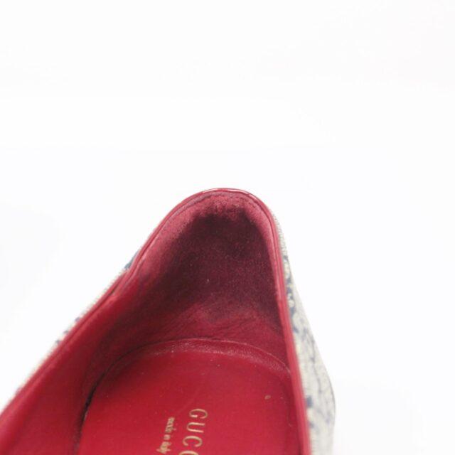 GUCCI Guccissima Grey Red Ballerina Flats US 8.5 EU 38.5 25634 g