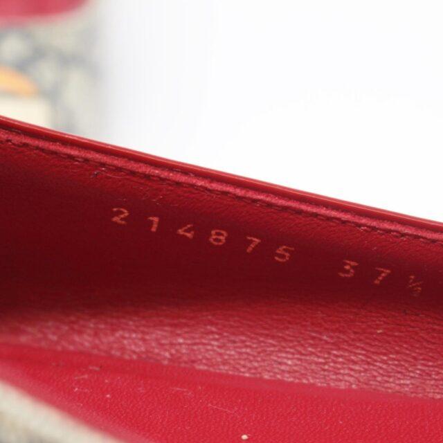 GUCCI Guccissima Grey Red Ballerina Flats US 8.5 EU 38.5 25634 h