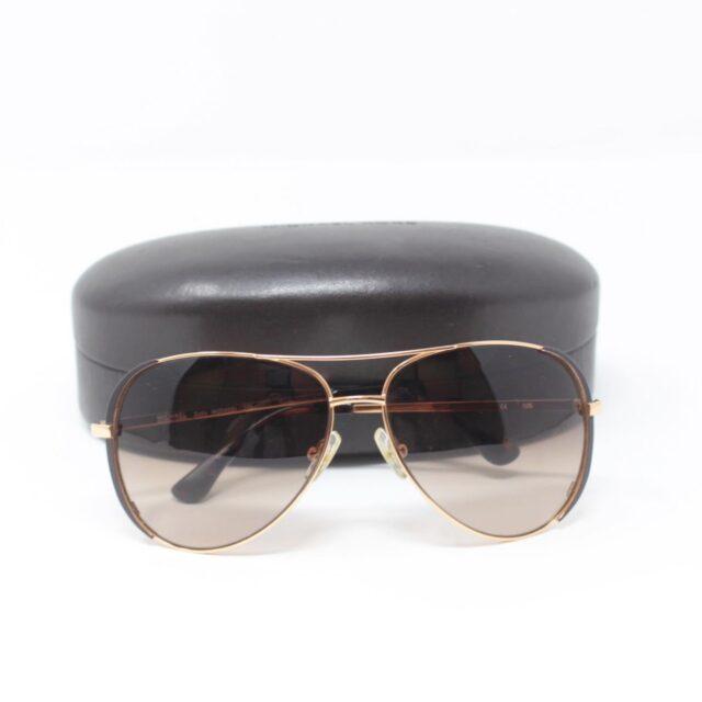 MICHAEL KORS Brown Aviator Sicily Sunglasses 25665 f