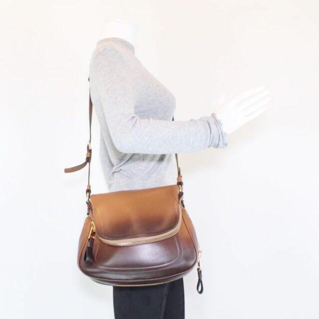 TOM FORD Brown Jennifer Handbag Crossbody 25920 i