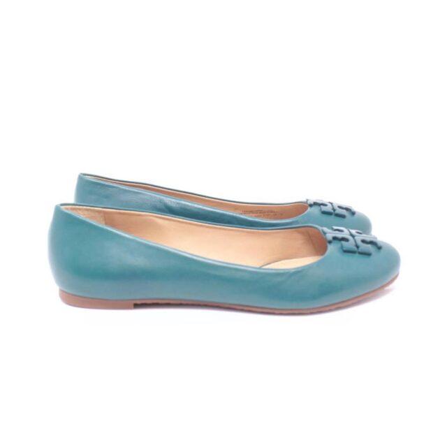 TORY BURCH Turquoise Ballerina Flats US 7 EU 37 25611 b