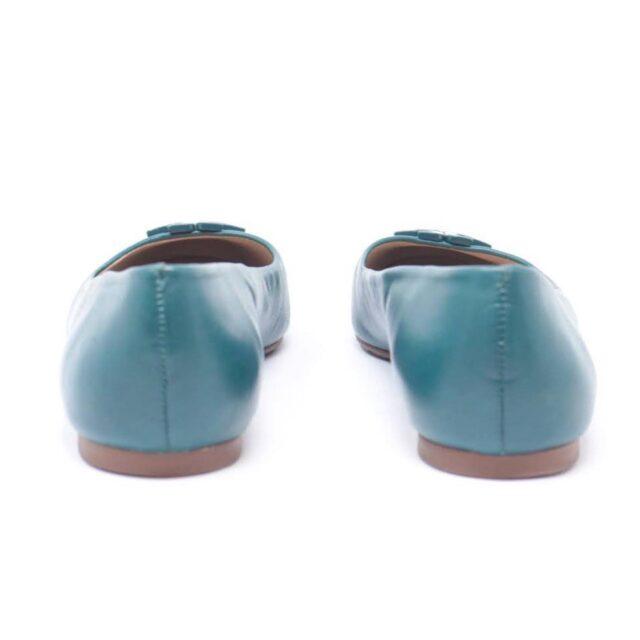 TORY BURCH Turquoise Ballerina Flats US 7 EU 37 25611 d