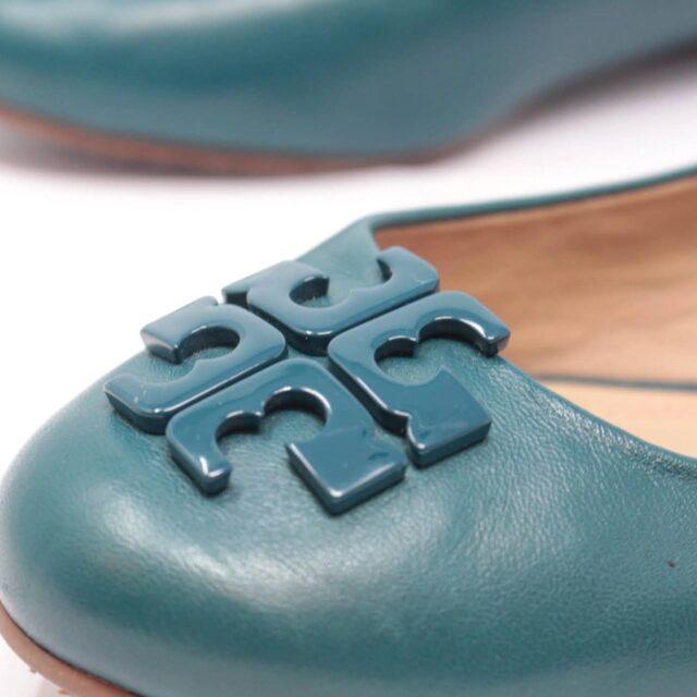 TORY BURCH Turquoise Ballerina Flats US 7 EU 37 25611 f