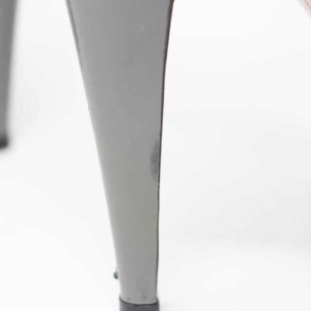 VALENTINO Gray Patent Leather Slingback Heels US 7 EU 37 10391 f