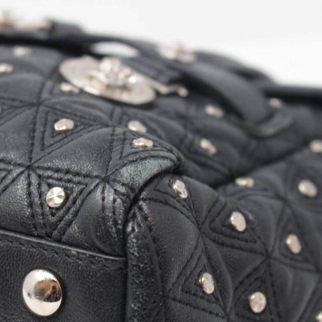 VERSACE Black Medusa Studded Handbag 25921 c