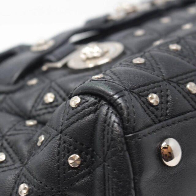 VERSACE Black Medusa Studded Handbag 25921 g