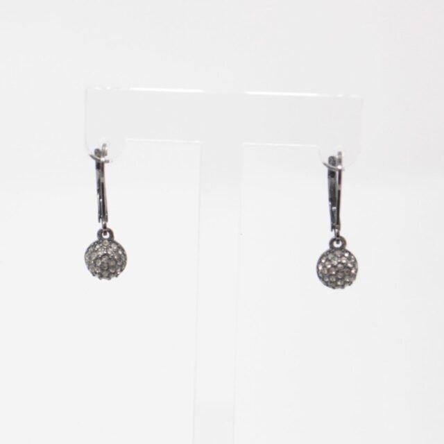 KATE SPADE Dark Gray Drop Earrings 25969 b